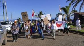 protestas en rapa nui