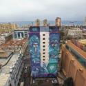 SOLSTICIO DE INVIERNO grafiteros Sammy Espinoza Cynthia Aguilera detrás de la Plaza Victoria