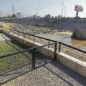 brazo rio mapocho parque renato poblete sequia