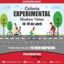 Eliodoro Yáñez tendrá una ciclovía de prueba este 18 y 19 de abril