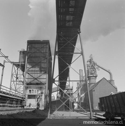 Coqueria de Huachipato, Compania de Aceros del Pacifico, hacia 1960