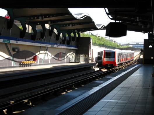 Estación Quilín (L4) del Metro de Santiago. © RiveraNotario, vía Flickr. (Imagen de referencia).