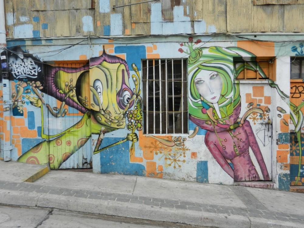 Mural de Un Kolor Distinto Valparaíso © chrisweger, vía Flickr.