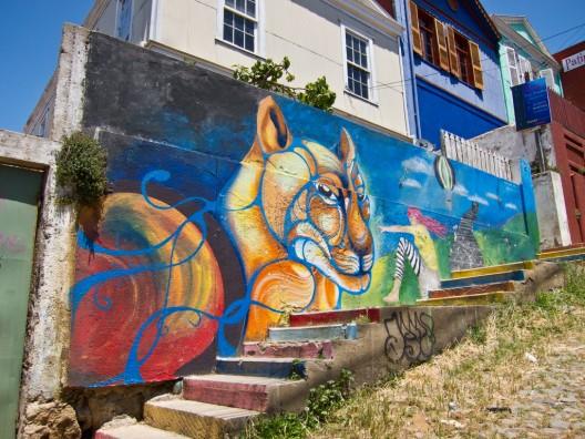 mural en calle tepleman cerro alegre por Kjetilei via flickr