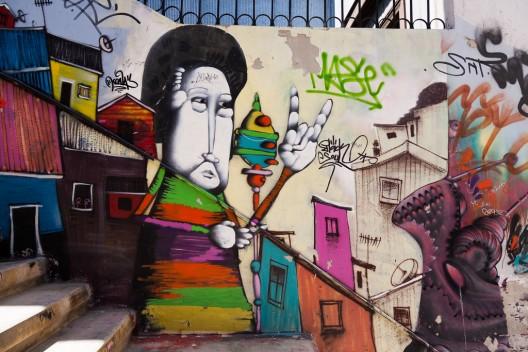 mural en pasaje babestrello por @bibiweb via flickr