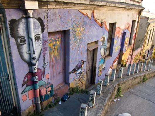 mural en subida general mackenna cerro yungay por Kjetilei via flickr