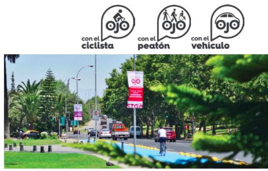 """Campaña """"Ojo: Mira Tu Entorno"""". Fuente imagen: Plan Integral de Movilidad"""
