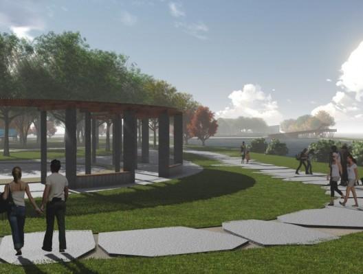 Maqueta del Parque de Mitigación Santa Clara  en Talcahuano.