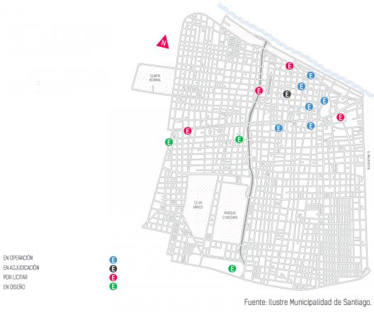 Plan Estacionamientos Subterráneos. Fuente: Plan Integral de Movilidad.