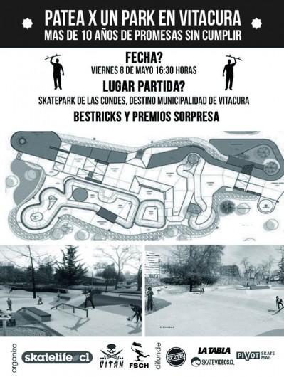 8 de mayo pateada skatepark para vitacura