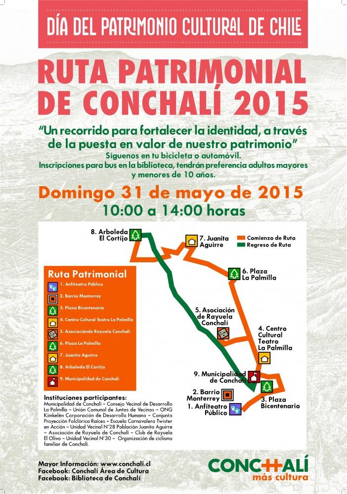 Afiche Dia de Patrimonio 2015 Conchali