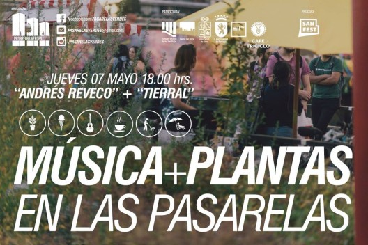 afiche musica + plantas en las pasarelas 7 mayo