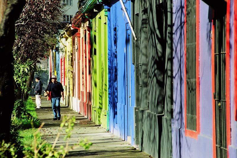 Calle Melchor Concha y Toro, Barrio Bellavista, Santiago. © Claudio Olivares Medina, vía Flickr.