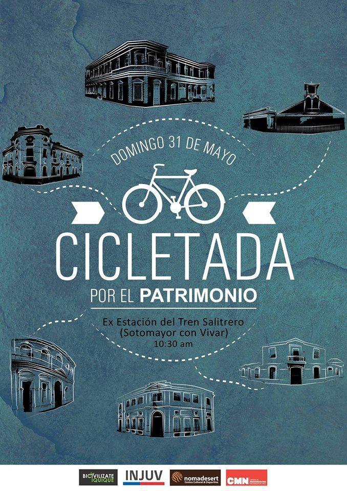 flyer cicletada patrimonio iquique