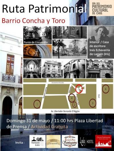 flyer dia patrimonio barrio concha y toro