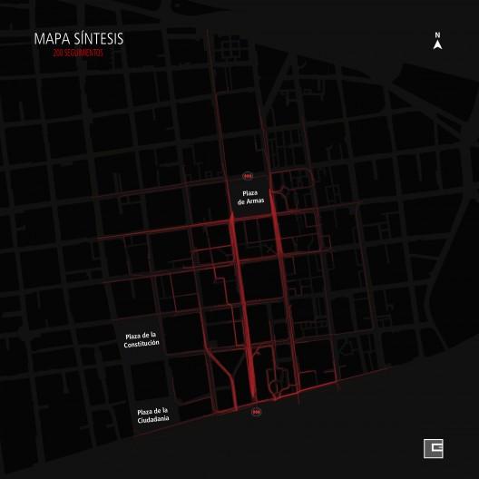 Síntesis desplazamiento de peatones santiaguinos © Carlos Esponda