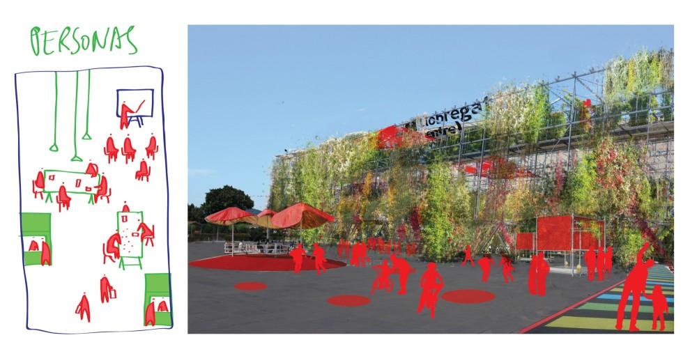 Espacios que inducen a crear nuevas conexiones y generar iniciativas. Image Cortesia de Ecosistema Urbano