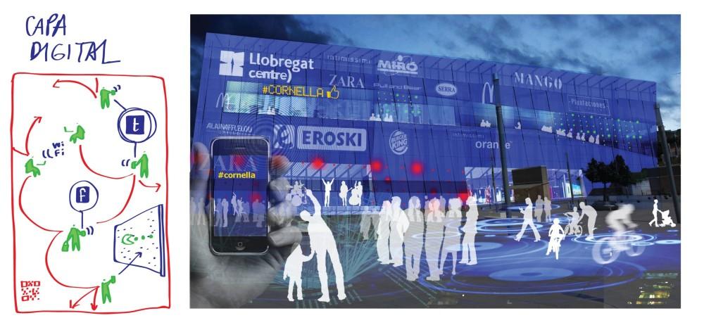 La dimensión digital incorporada como parte del edificio.. Image Cortesia de Ecosistema Urbano