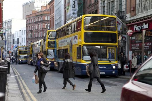 Calle Suffolk  en la actualidad. Fuente imagen: Ayuntamiento de Dublín