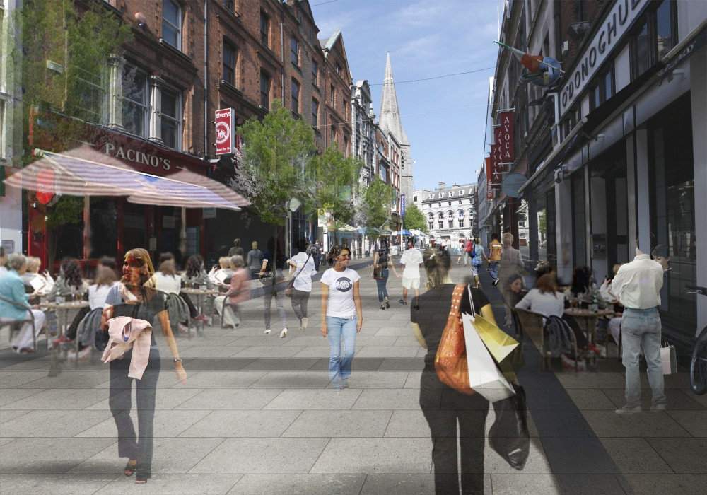 Propuesta para calle Suffolk. Fuente imagen: Ayuntamiento de Dublín