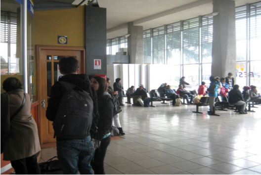 Boletería estación de Temuco.