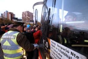 resguardo policial buses transantiago