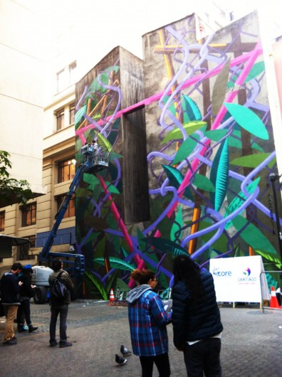 Mural de Cekis en calle Valentín Letelier. Cortesía Hecho en Casa 3