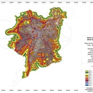 Mapa de Ruido de Gran Santiago.