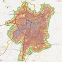 Mapa de Ruido del Gran Santiago en Mapcity.