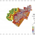 Mapa de Ruido Zona Surponiente del Gran Santiago. Fuente: MMA e Instituto de Acústica de la UAch.