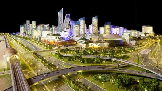 """""""Mall of the World"""", centro comercial actualmente en construcción en Dubái. Image Cortesia de Dubai Holding"""