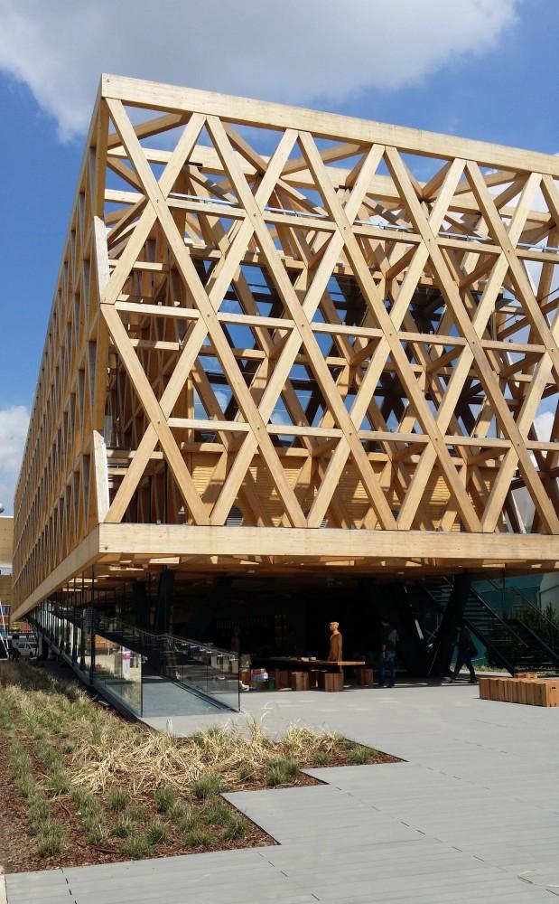 Pabellón de Chile en la Expo Milán 2015. Cortesía Cristian Undurraga, vía Plataforma Arquitectura.