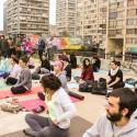 Pasarelas de la Remodelacion San Borja Foto por Pop - Up Yoga Sand via Facebook Pasarelas Verdes