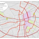 Propuesta de Red de Ciclovías para el centro. Fuente imagen: Ayuntamiento de Dublín