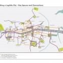 Rutas peatonales. Fuente imagen: Ayuntamiento de Dublín