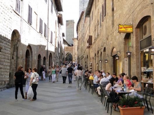 San Gimignano, Toscana, Italia. © Rodrigo_Soldon, vía Flickr.