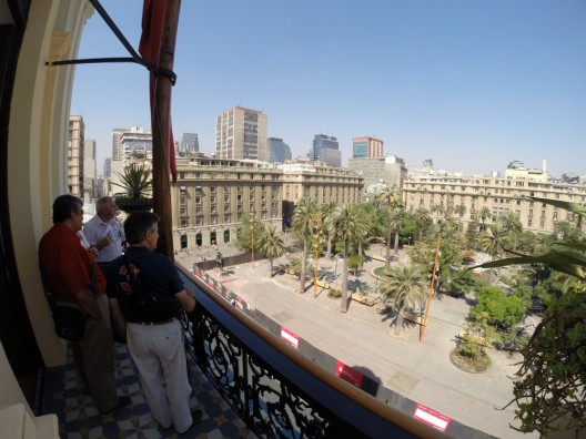 Vista a la Plaza de Armas desde la Torre Benjamín Vicuña Mackenna del Museo Histórico Nacional. © Plataforma Urbana.