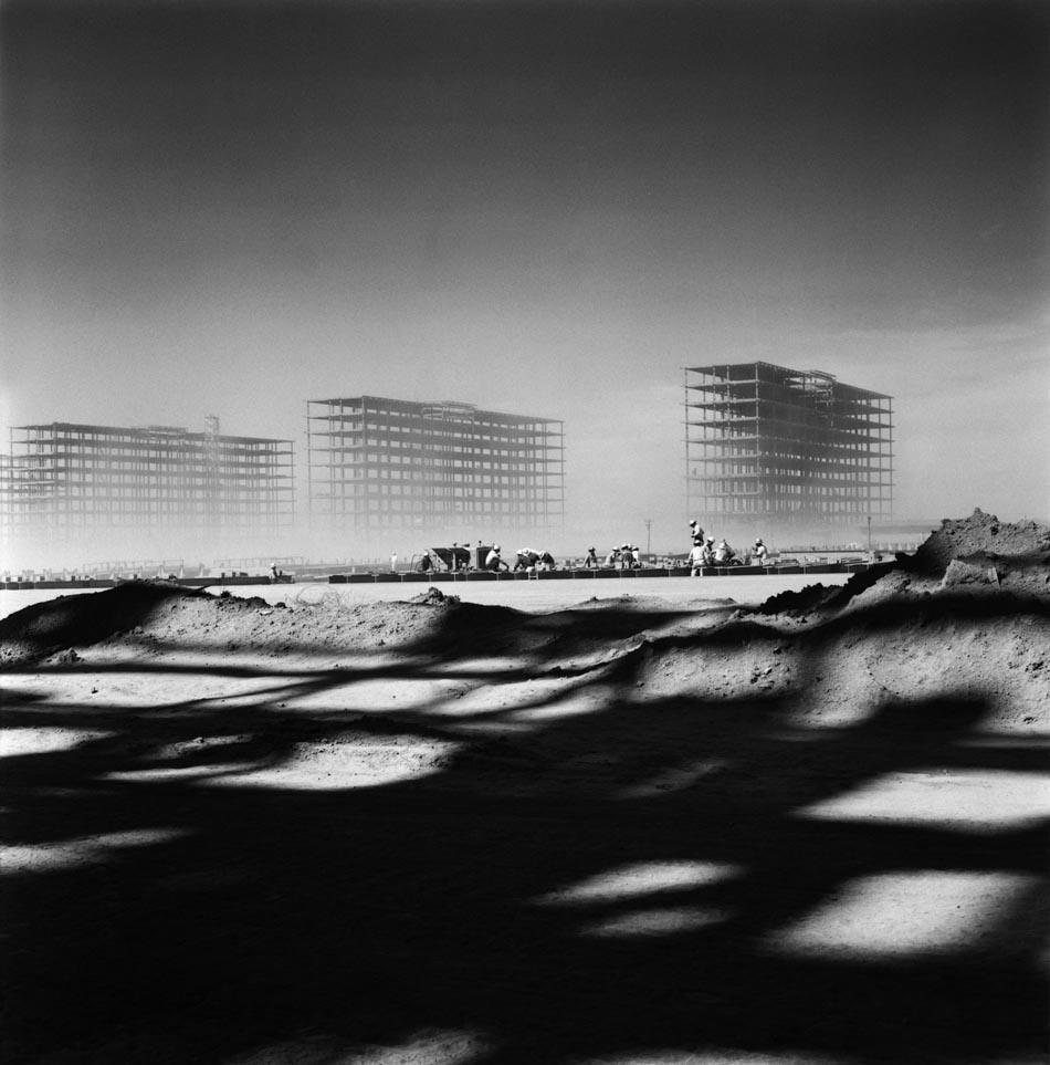 La construcción de Brasilia, 1956. Imagen © Marcel Gauthero