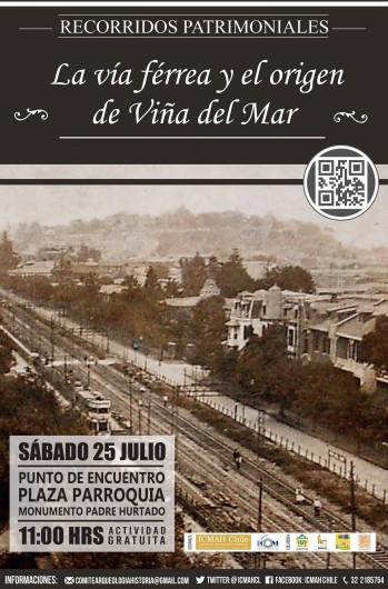 Afiche La Via Ferrea y el Origen de Viña del Mar