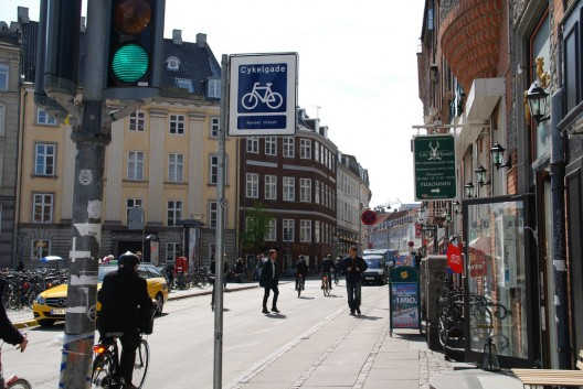 Calle Vestergade, Copenhague. © Embajada Ciclista de Dinamarca, vía Flickr.
