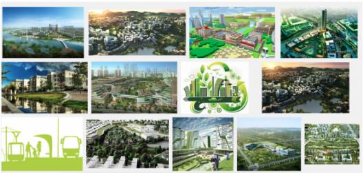 La imagen muestra el resultado de búsqueda de la palabra ciudad sostenible en Google. La imagen colectiva de ciudad sostenible está construida exclusivamente sobre temas medio ambientales aislando del discurso de sostenibilidad las variables económicas y sociales. Fuente: google.com