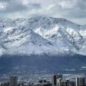 Cordillera de los Andes después de la lluvia. Tomada el 24082014 Cortesia WalkingStgo