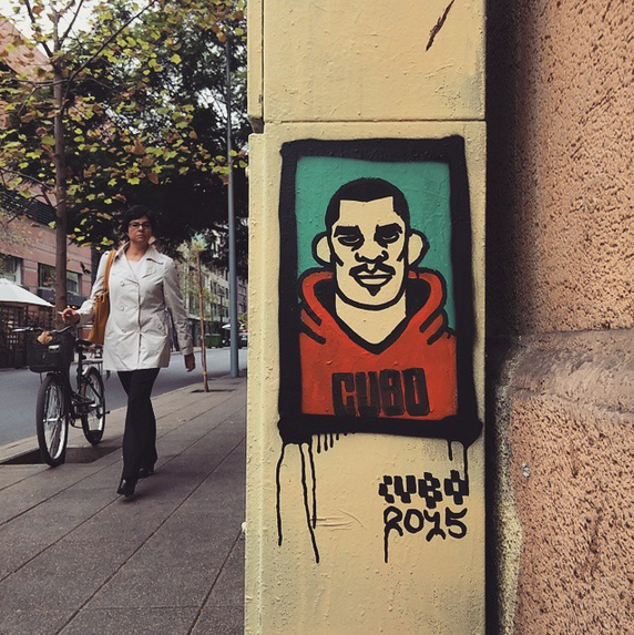 Calle Merced, Barrio Lastarria. Cortesía Cubotoy.