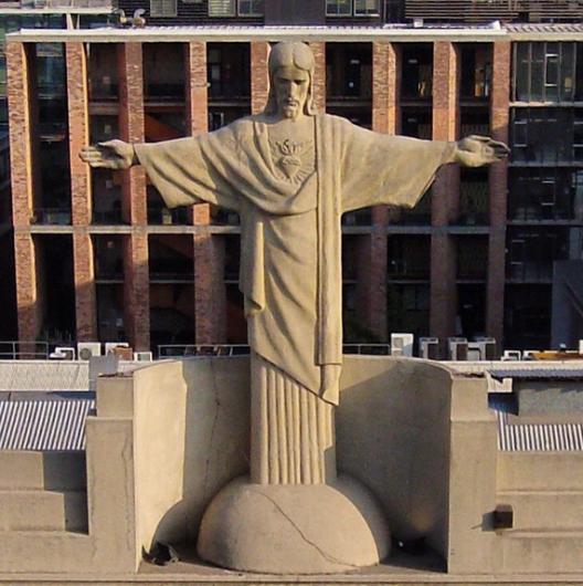 Cristo de la Casa Central de la Univerisdad Catolica de Chile Cortesia Fotos Aereas