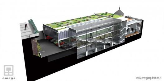 Vista de la cubierta del edificio y terraza de la cafetería. Fuente imagen: Ministerio de Bienes Nacionales