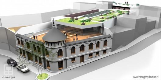 Recuperación del ex Edificio Severín para convertirlo en el Centro Interdisciplinario de Neurociencia de Valparaíso. Fuente imagen: Ministerio de Bienes Nacionales.