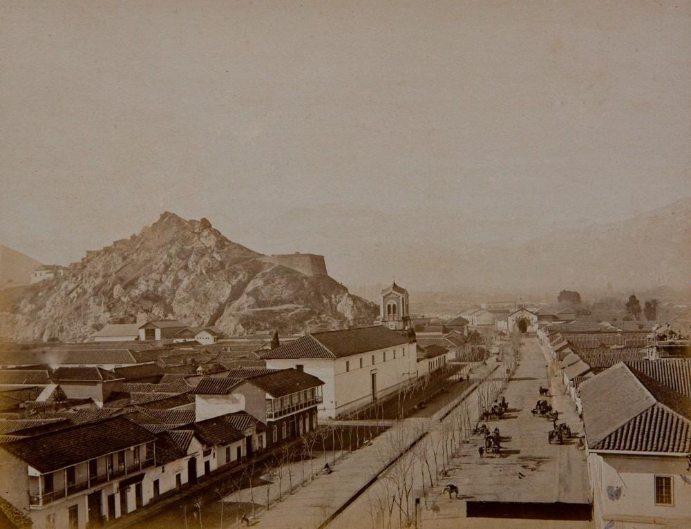 Alameda en 1874. Autor Emilio Garreaud. Archivo Visual de Santiago. Cortesía