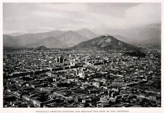 Vista de Santiago en 1931. Autor: Desconocido. Cortesía @enterrenochile