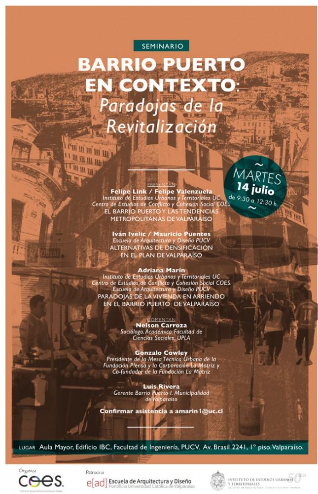 flyer seminario barrio puerto