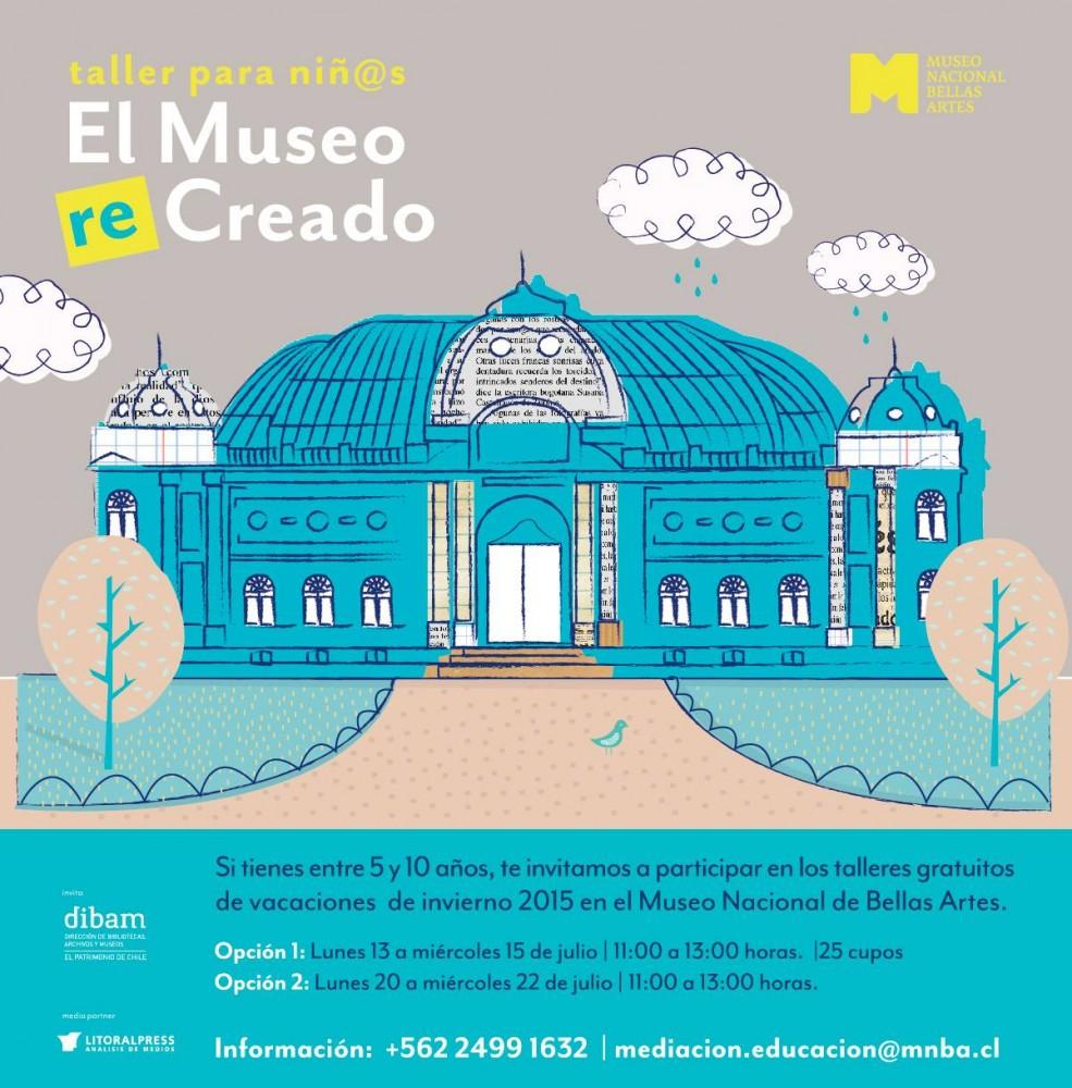flyer taller el museo recreado museo nacional de bellas artes santiago de chile